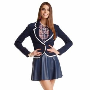 Pretty Little Liars Cropped Navy Blazer